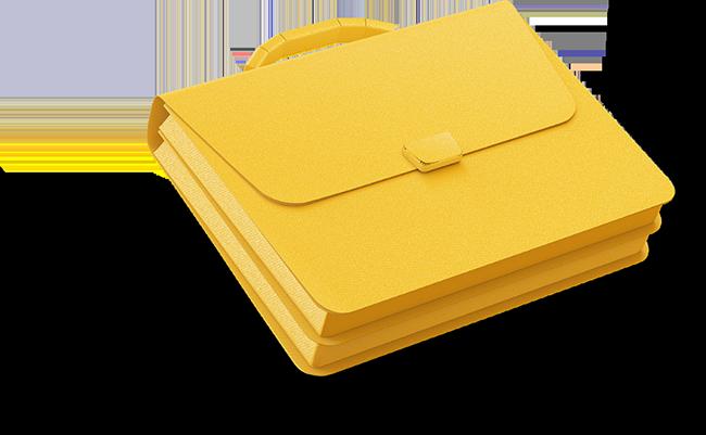 Yellow portfolio
