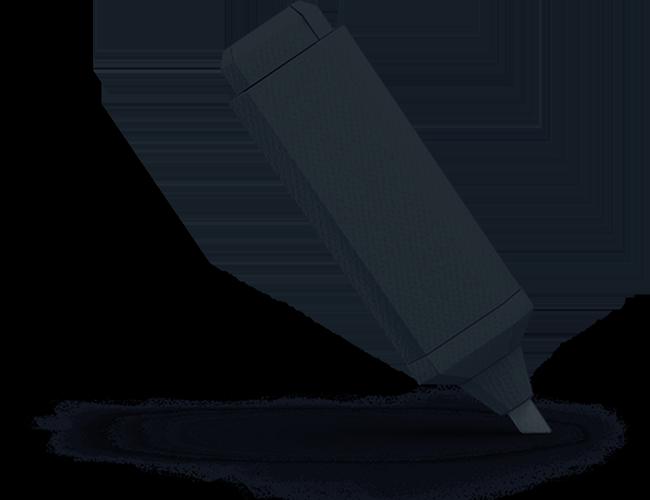 Dark highlighter marker